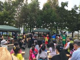 子供達のために心のこもったお祭り会場でした